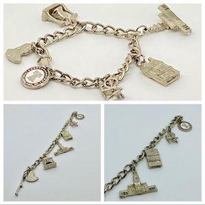 "Vintage Philadelphia charm Bracelet silver l7"""